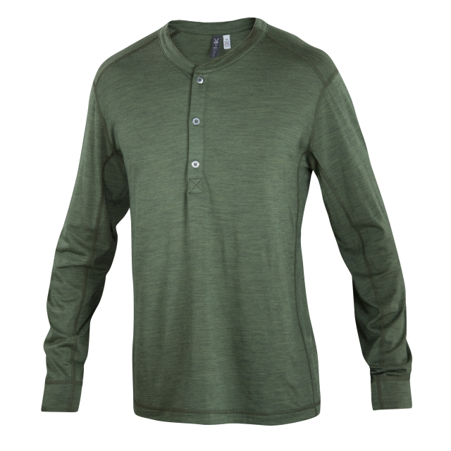 Ibex - OD Henley Long Sleeve
