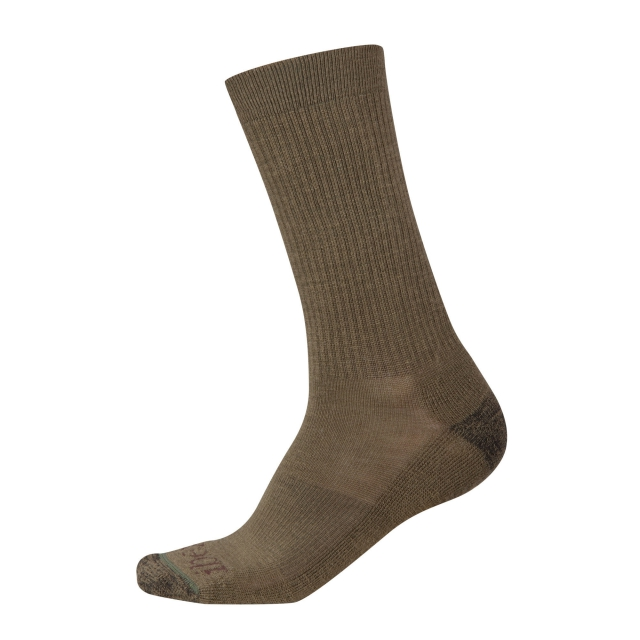 Ibex - Solid Ribbed Sock