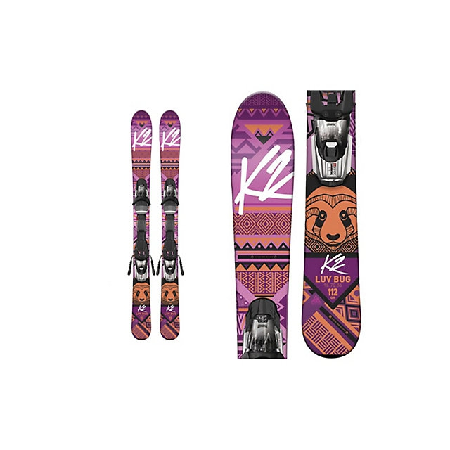 K2 - Luv Bug Kids Skis with Marker Fastrak2 4.5 Bindings 2017
