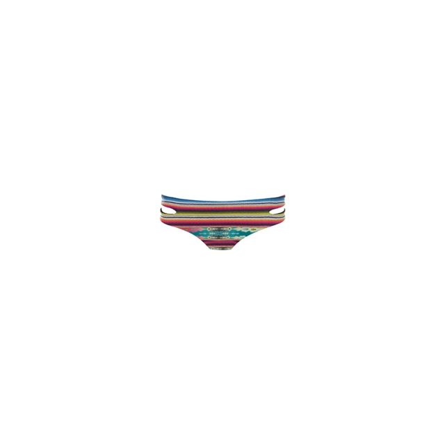 L Space - Womens Cozumel Estella Full Bikini Bottom - Sale Multi Large