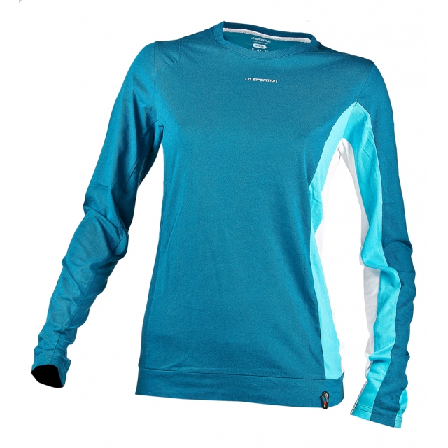 La Sportiva - - Elixir LS Shirt Wmns - X-Large - Fjord Malibu Blue