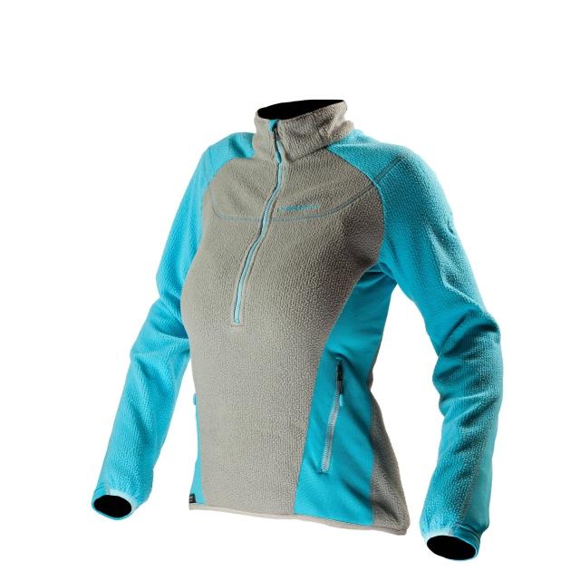 La Sportiva - Stardust Pullover - Women's Mid Grey/Malibu Blue Large
