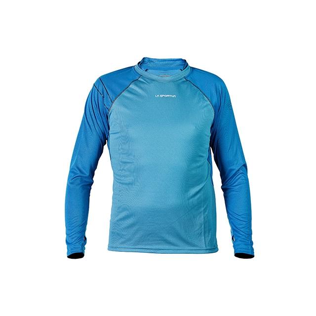 La Sportiva - - Epic LS Shirt Mens - Medium - Sea Blue/ Blue