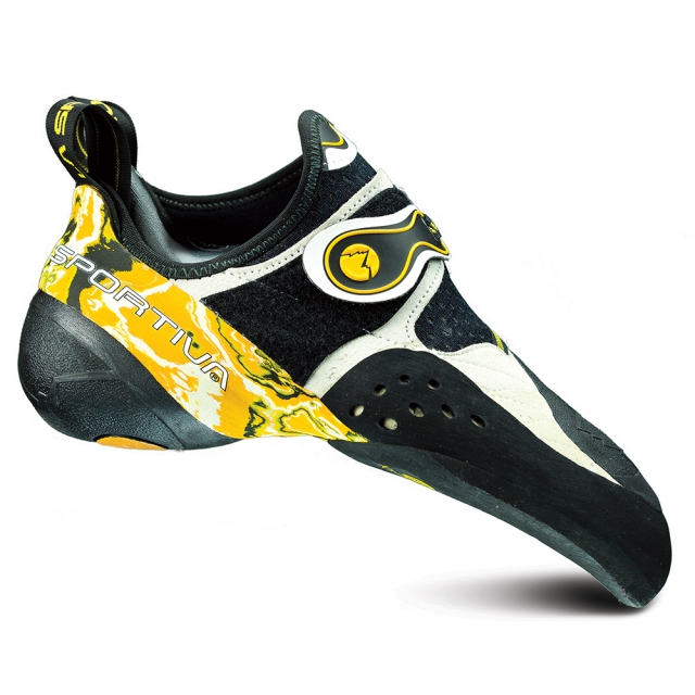 La Sportiva - Solution Climbing Shoe Mens - White / Marbled Yellow 36