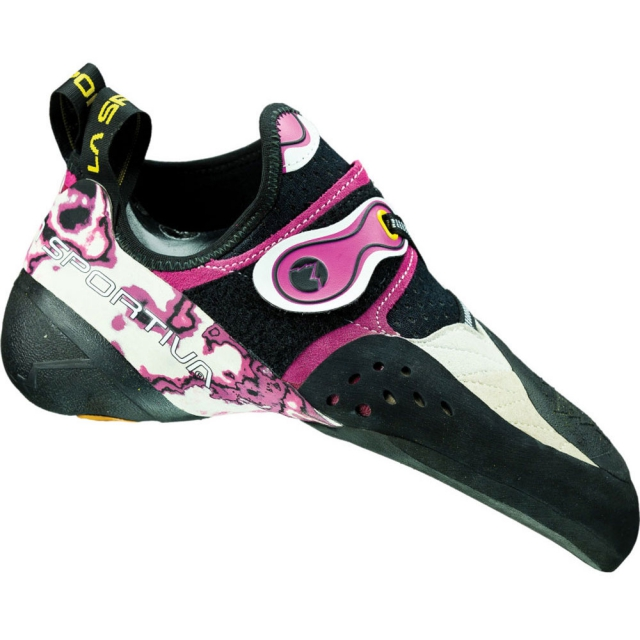 La Sportiva - Solution Climbing Shoe Womens - White / Marbled Pink 38