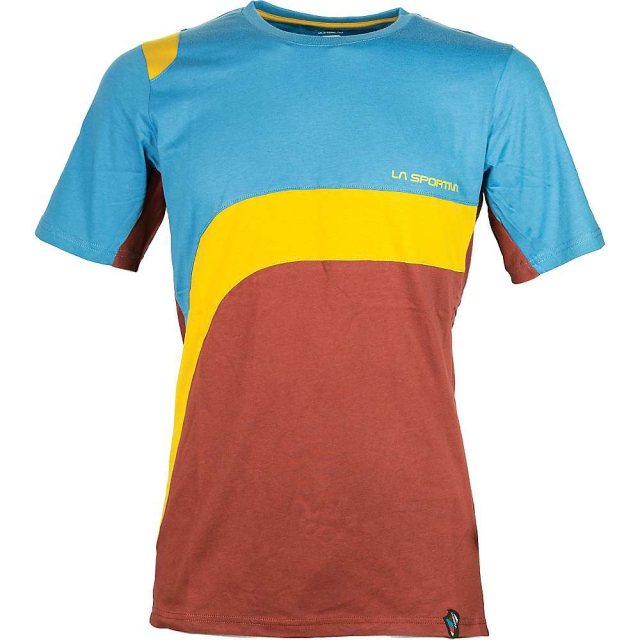 La Sportiva - - Swing SS Shirt Men - X-Large - Rust/ Sea Blue