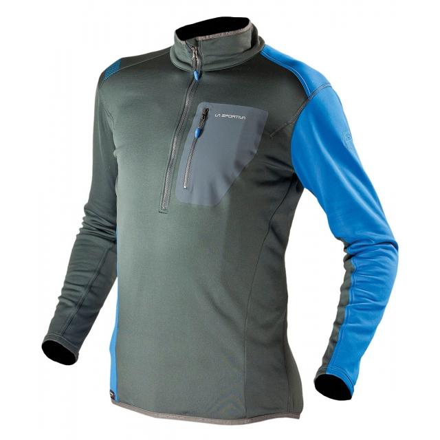 La Sportiva - - Icon Pullover Mens - Small - Grey/Blue