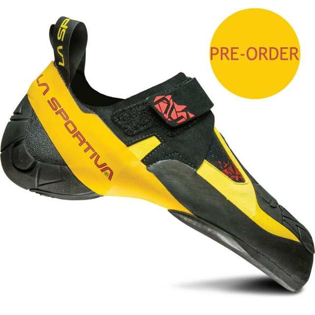 La Sportiva - Skwama Climbing Shoe - Black / Yellow 42.5