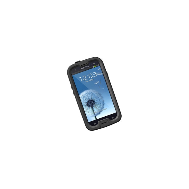 LifeProof - fre Rugged Waterproof Case for Samsung Galaxy S3 - Black