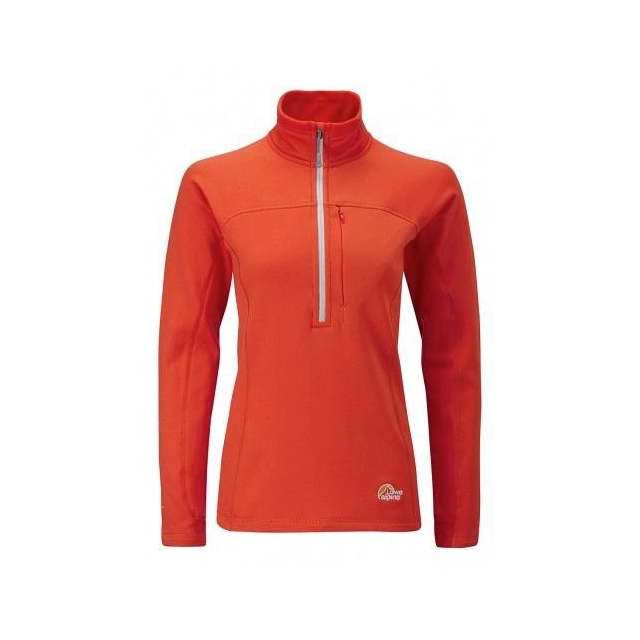 Lowe Alpine - Womens Powerstretch Zip Neck SM::Peackock