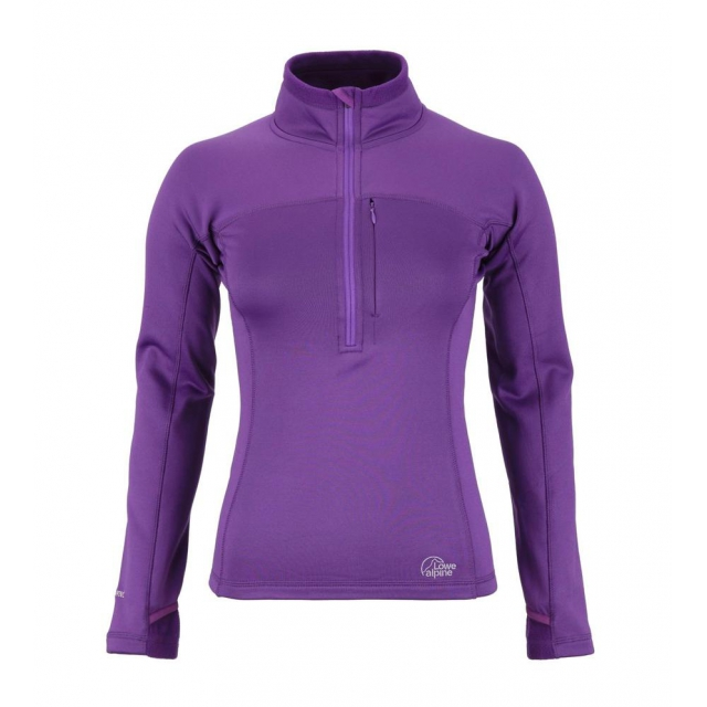 Lowe Alpine - Womens Powerstretch Zip Top SM