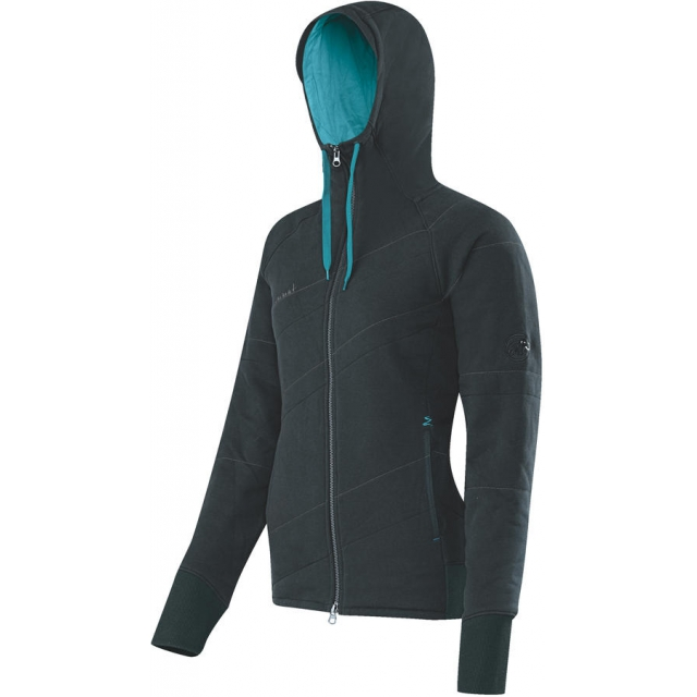 Mammut - - Corona Hoody Women - Medium - Black / Ocean