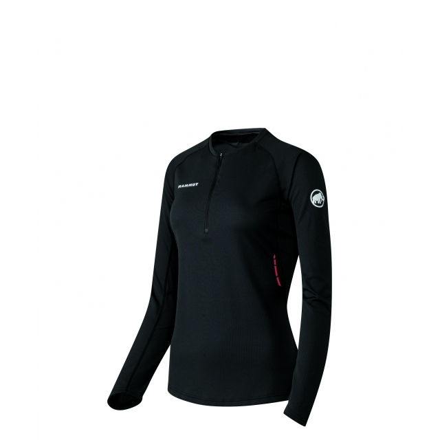 Mammut - - MTR 201 Longsleeve Zip Womens - X-Small - Black