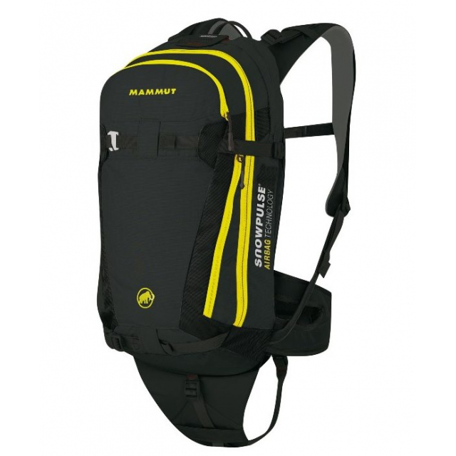 Mammut - - Backbone RAS Airbag Pack - 18 - Black / Yellow