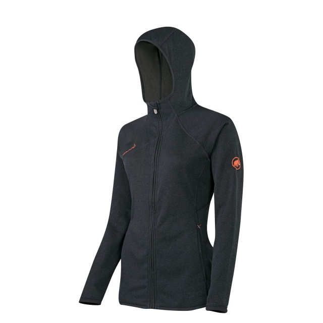 Mammut - - Get Away Hooded Jkt W - Large - Graphite Melange