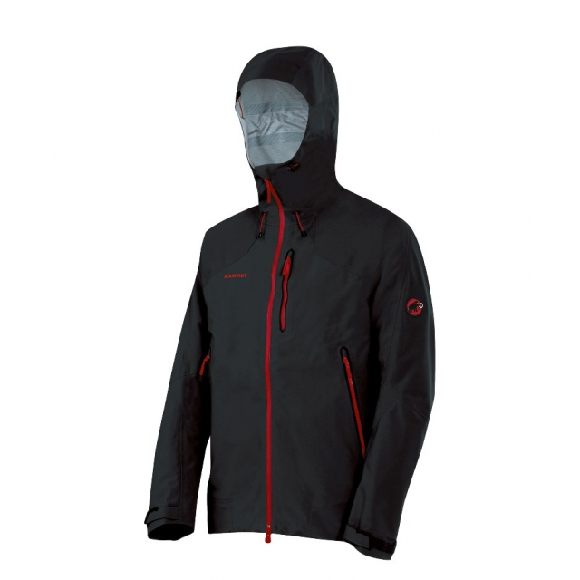 Mammut - - Masao Jacket Men - Small - Graphite/Dark Inferno