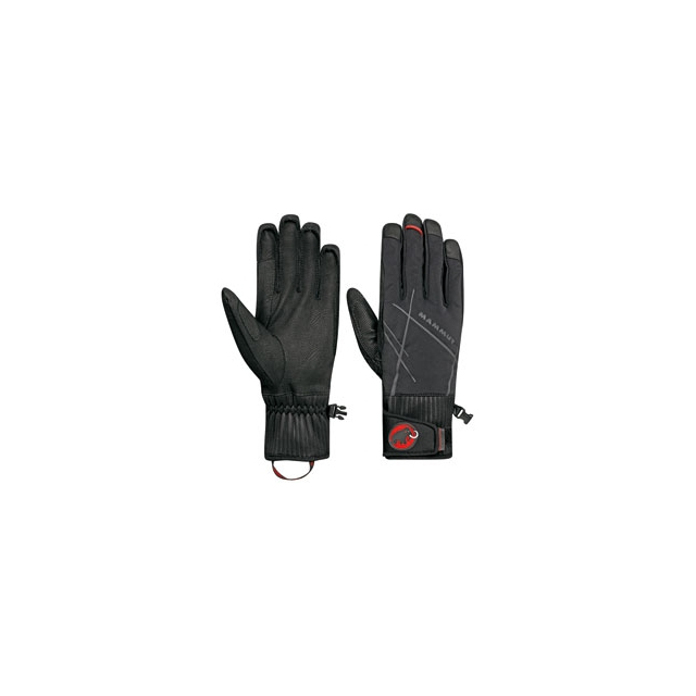 Mammut - Merit Pulse Glove - Black/Highway In Size: 8