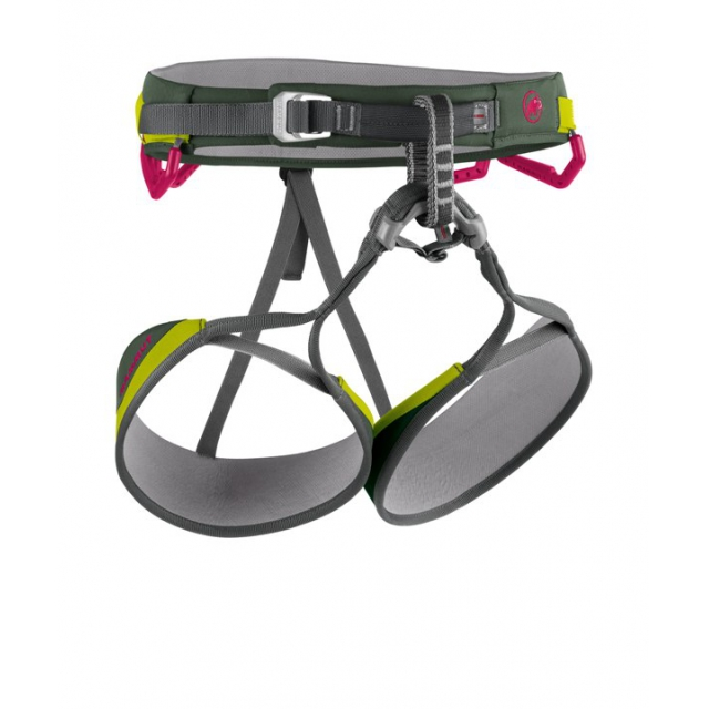 Mammut - - Togira Light Harness Womens - X-Small - Dark Cypress / Dark Solar
