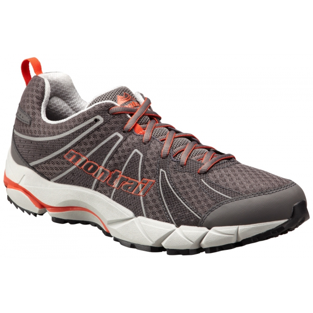 Montrail - - Fluid Feel II Mens - 9 - City Grey/ Red Quartz