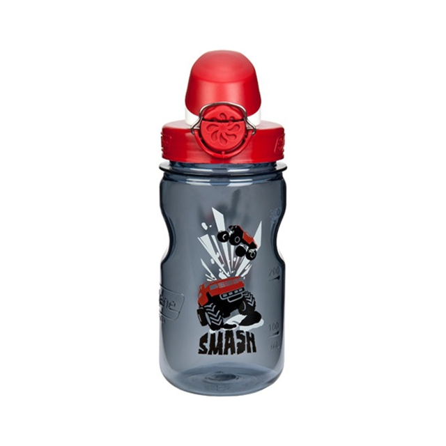 Nalgene - On the Fly Water Bottle - Kid's: Grey Smash w/Red Top