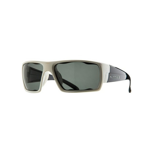 Native Eyewear - Gonzo White Front/Iron Temple Sunglasses