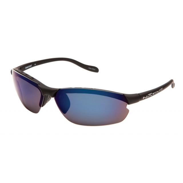 Native Eyewear - - Dash XP Sunglasses - Asphalt/Blue Reflex Lens