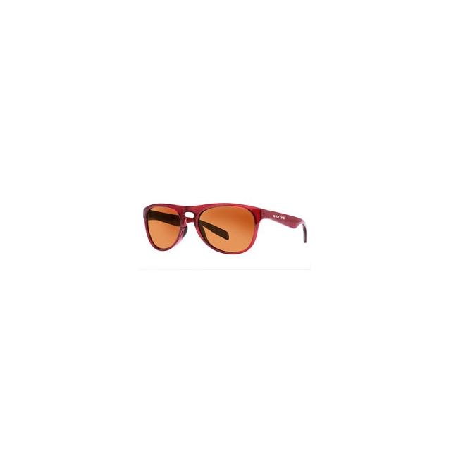Native Eyewear - Sanitas Sunglasses - Crimson/Brown