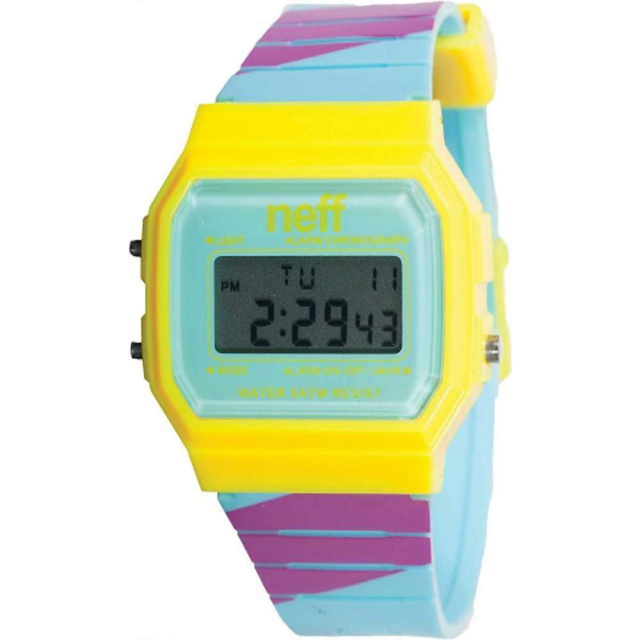 Neff - Flava Watch Cyan/Yellow/ Black - Men's