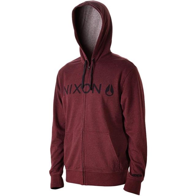 Nixon - Nexus Zip Hood Mens - Oxblood Heather M