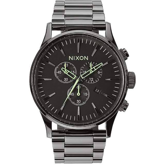 Nixon - Sentry Chrono Watch Mens - All Gunmetal