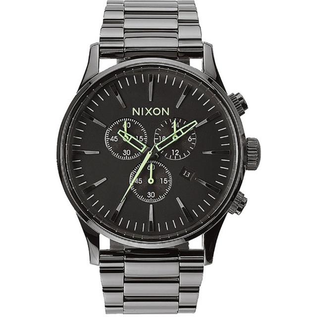 Nixon - Sentry Chrono Watch Mens - Polished Gunmetal/Lum