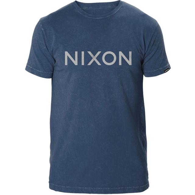 Nixon - Short Sleeve Nixon Tee Mens - Dark Indigo/Gray L