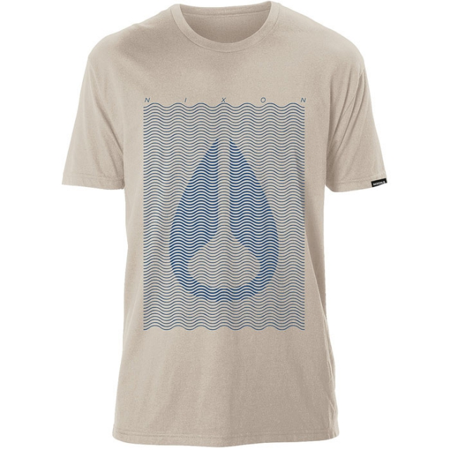 Nixon - Short Sleeve Waves Tee Mens - Cream M