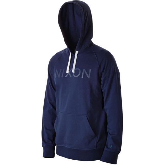 Nixon - Wordmark Hood Pullover Mens - Navy / White L