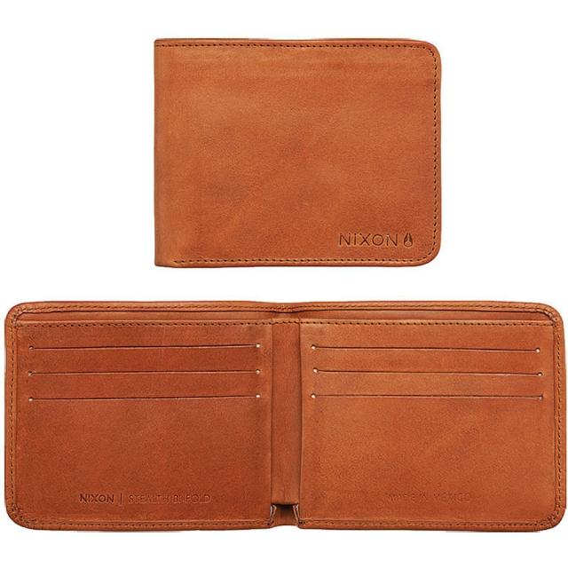 Nixon - Stealth Slim Bi-Fold Wallet - Saddle