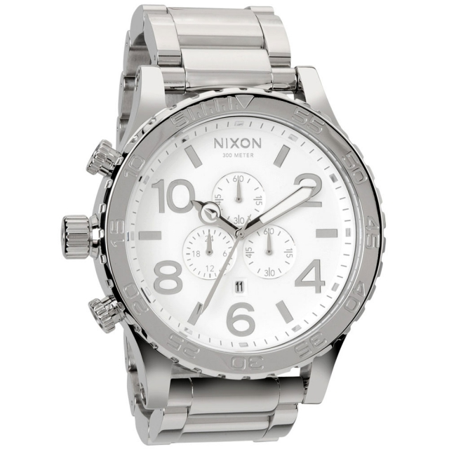 Nixon - 51-30 Chrono Watch Mens - High Polish/White