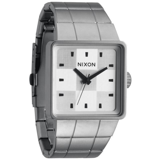 Nixon - Quatro Watch Mens - Sanded Steel/White