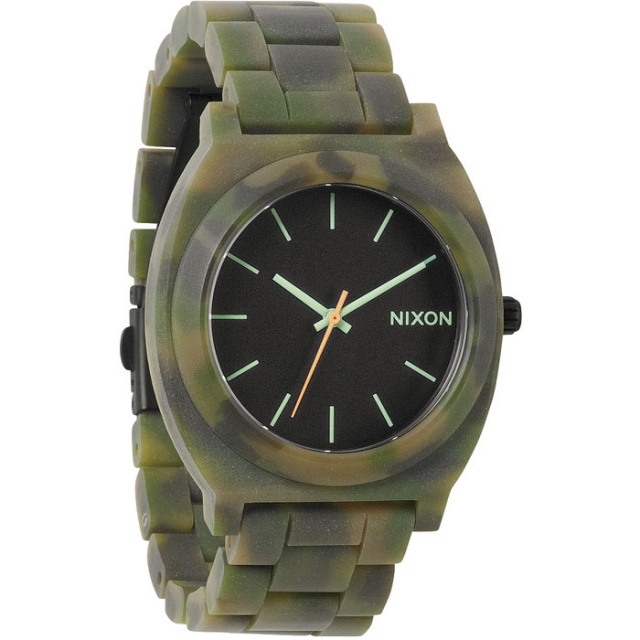 Nixon - Time Teller Acetate Watch - Mate Black/Camo