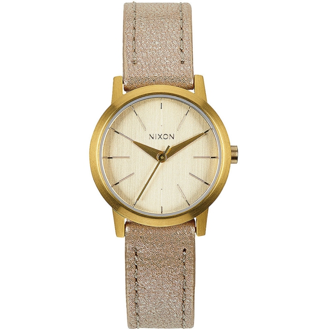 Nixon - Kenzi Leather Watch Womens - Gold Shimmer