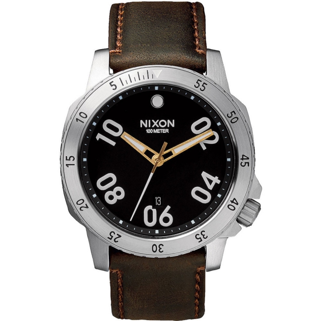 Nixon - Ranger Leather Watch Mens - Black/Brown