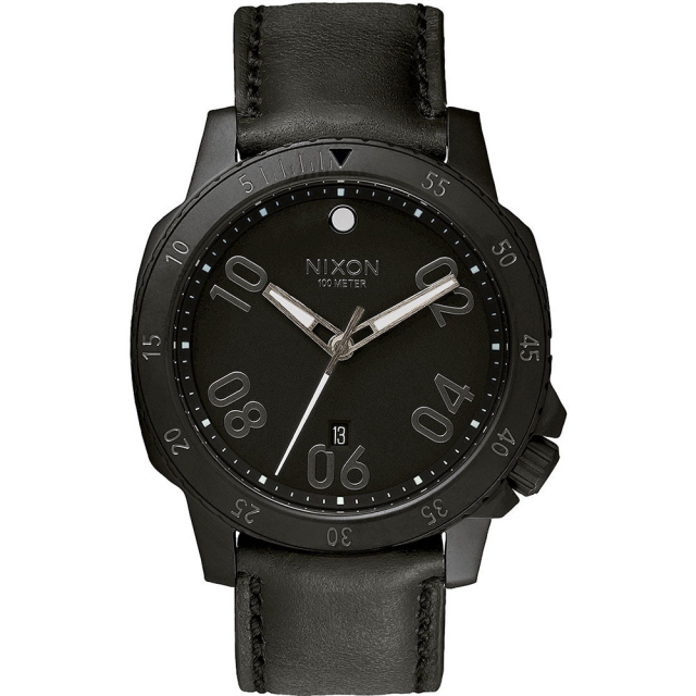 Nixon - Ranger Leather Watch Mens - All Black