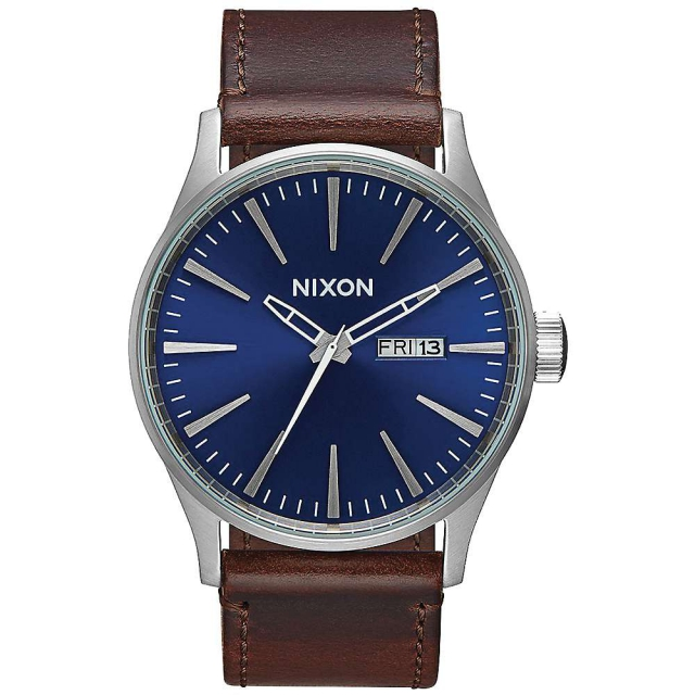 Nixon - Men's Sentry Leather Watch