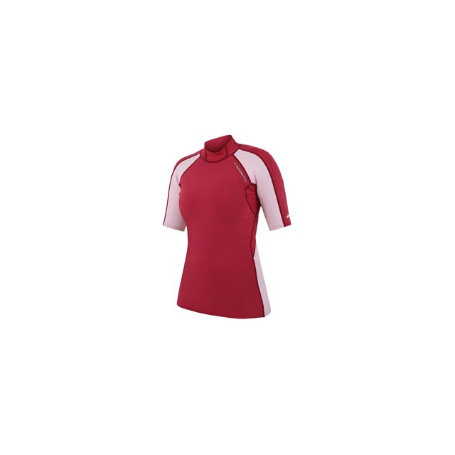 NRS - Hydroskin Short Sleeve Top - Women's - Cranberry/Pink In Size