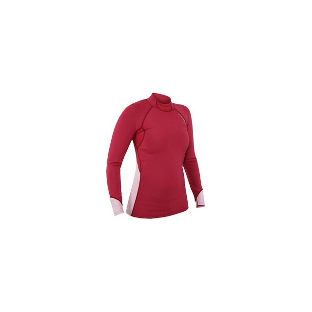 NRS - Hydroskin G3 Long Sleeve Shirt - Women's - Cranberry/Pink In Size: Extra Small