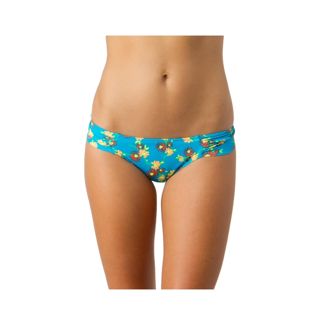 O'Neill - Daisies Tab Side Bikini Bottom - Women's: Blue, Large