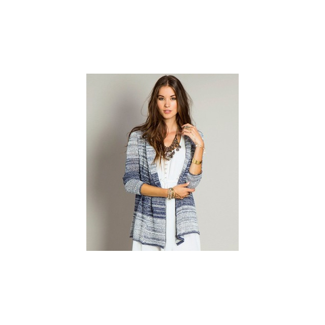 O'Neill - Lakeview Cardi - Women's-Blue White-L