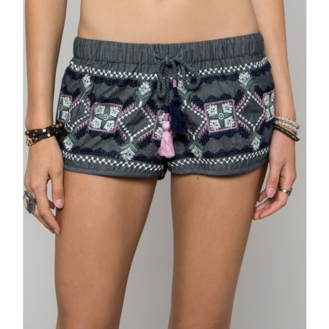 O'Neill - Womens Anna Sui Eureka Shorts - Closeout Coastal Blue Large