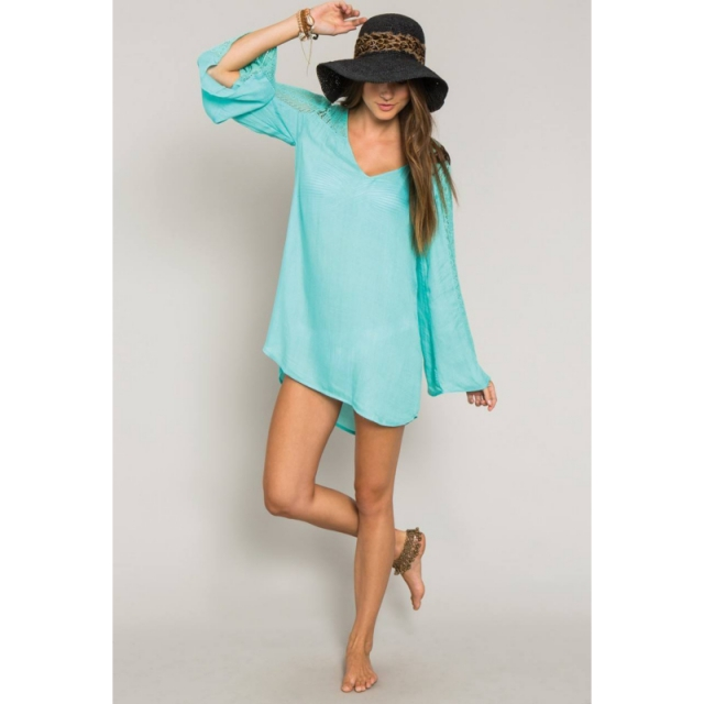 O'Neill - Eva Cover Up - Sale Aqua Blue Large