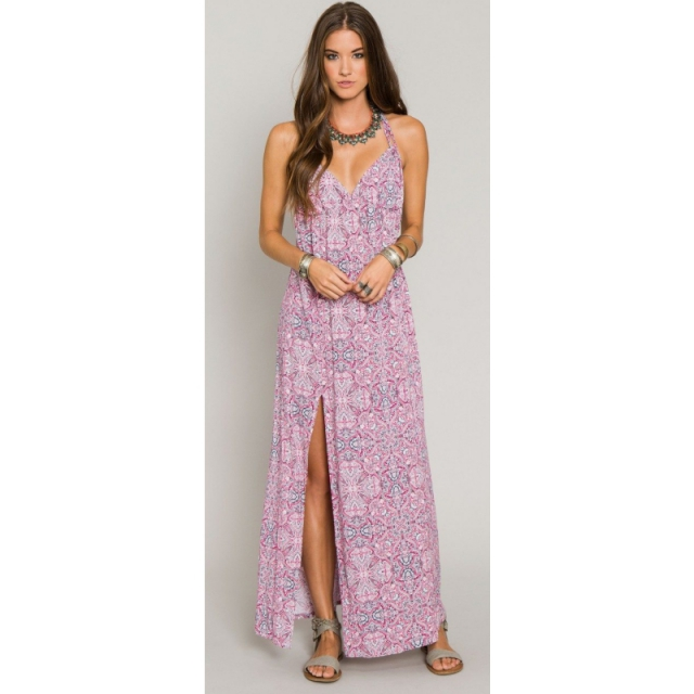 O'Neill - Womens Carlton Maxi Dress - Sale Fuchsia Small