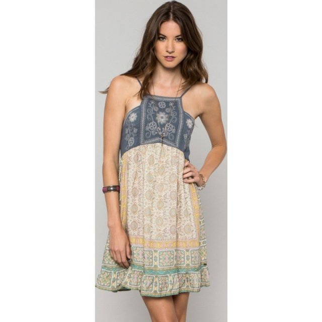 O'Neill - Womens Anna Sui Love Birds Dress - Sale Multi Colored Large